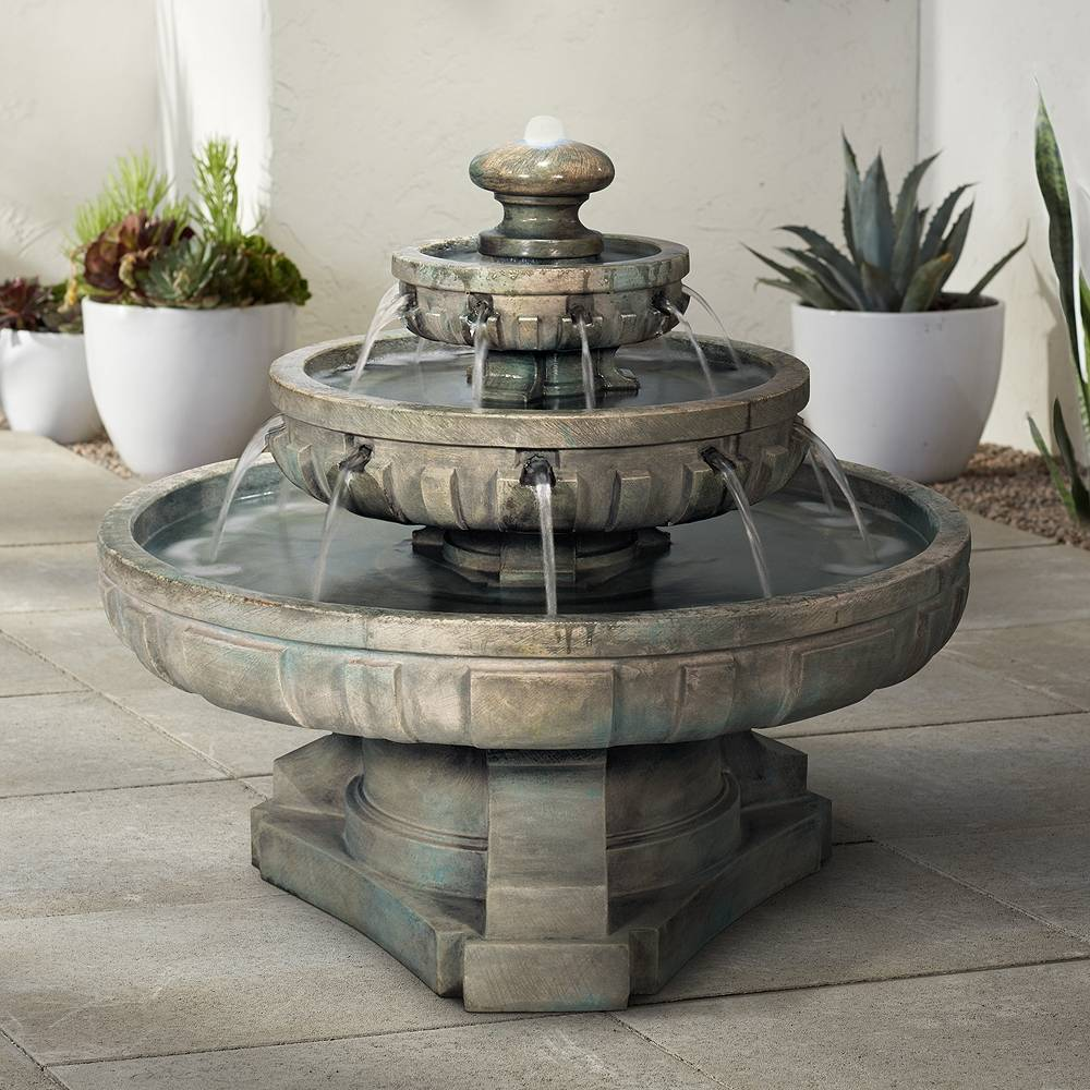 "Universal Lighting and Decor Regal Tier 36"" Wide Large Garden Fountain - Style # 79613"