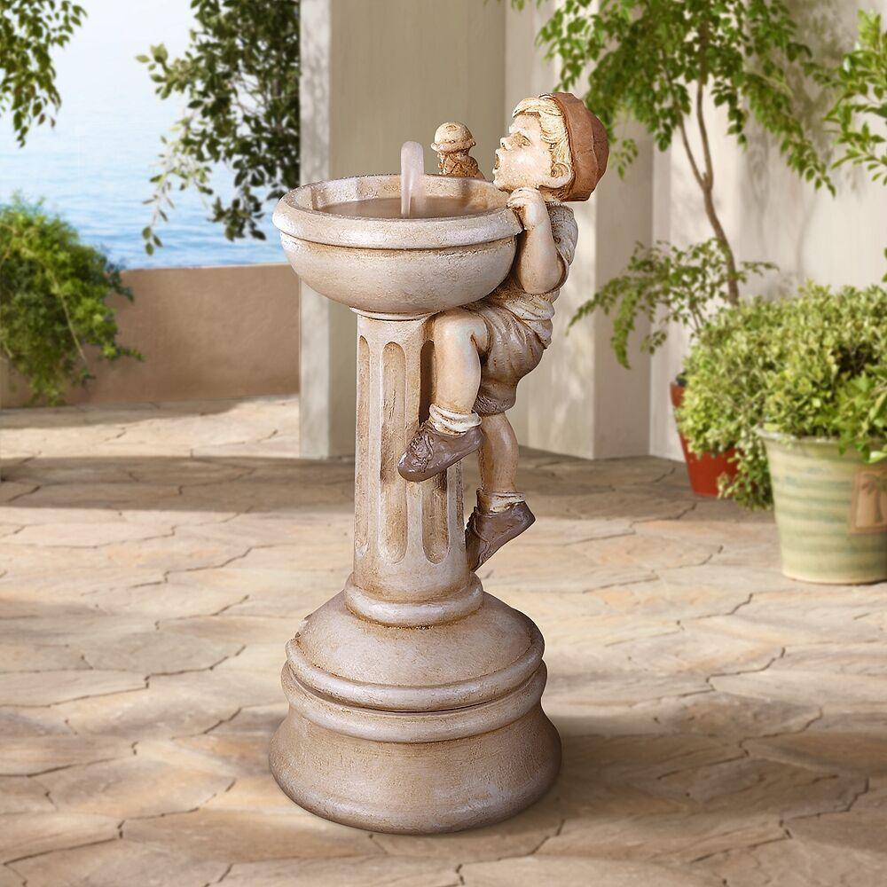 "Henri Studio Jack's Dilemma 31"" High Cast Stone Garden Water Fountain - Style # 83852"