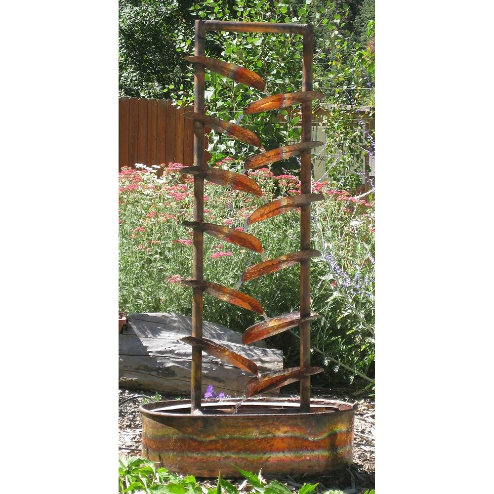 "Fountains By Design Water Trellis 48"" Handcrafted Copper Garden Fountain - Style # 8X021"