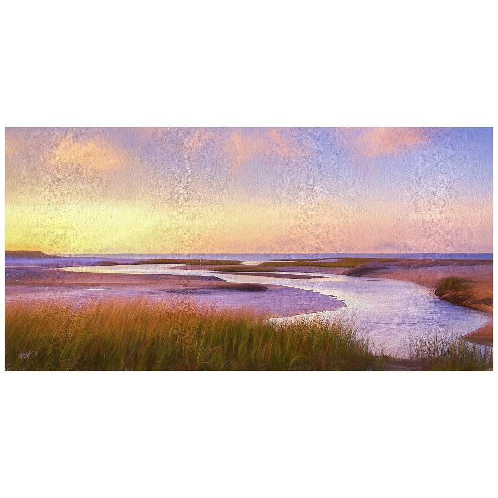 "West of the Wind Breaking Dawn 48"" Wide All-Season Indoor-Outdoor Wall Art - Style # 10P48"