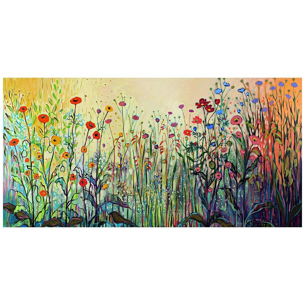 "West of the Wind Playful 48"" W All-Season Indoor-Outdoor Canvas Wall Art - Style # 11M12"