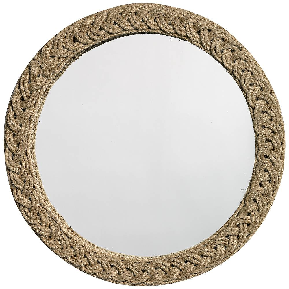 """Jamie Young Company Jamie Young Jute Braided 20"""" Round Wall Mirror - Style # 4H676"""