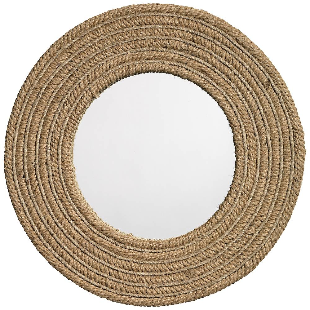 """Jamie Young Company Jamie Young Natural Jute 24"""" Round Wall Mirror - Style # 4H701"""