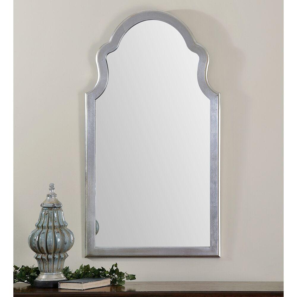 "Uttermost Brayden Silver Metal 27"" x 48"" Arch Wall Mirror - Style # 5D566"