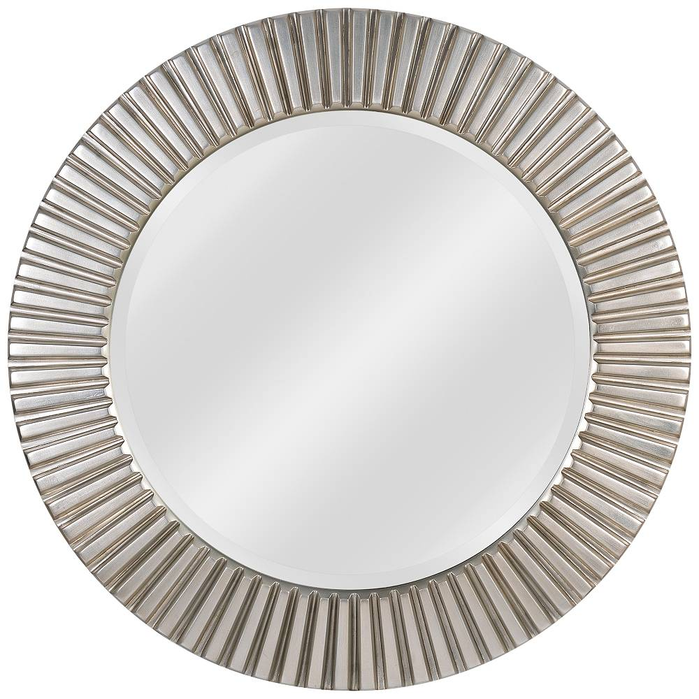 "Kenroy Home North Beach Silver 34"" Round Wall Mirror - Style # 62F06"