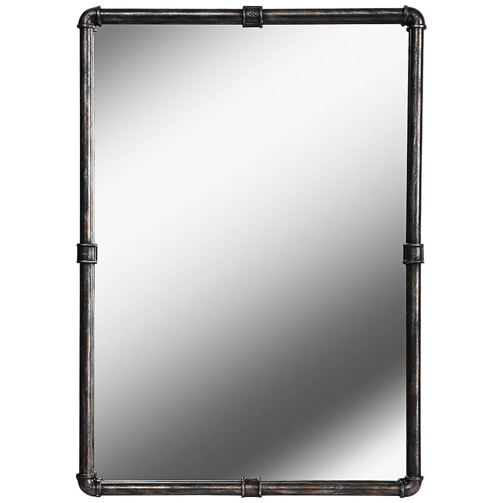 "Kenroy Home Steam Fitter Vintage Metal 26"" x 37 1/4"" Wall Mirror - Style # 62F32"
