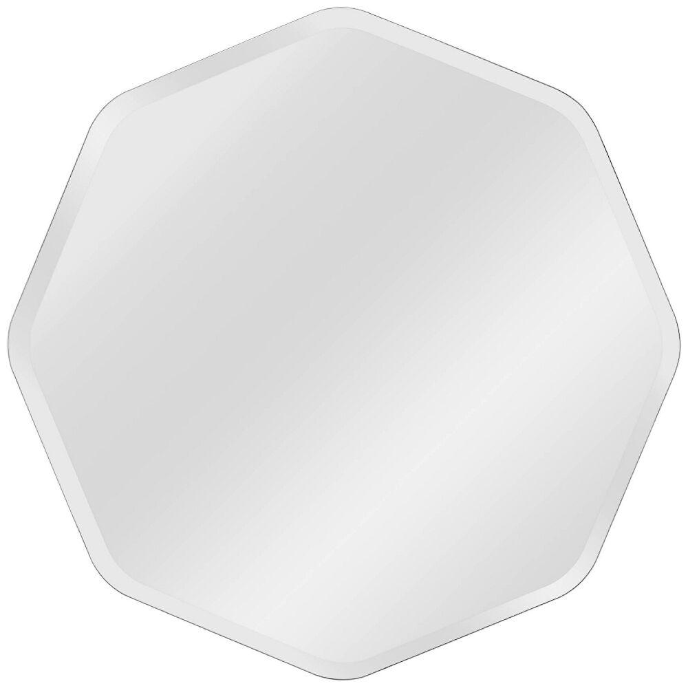 "Kenroy Home Octavia Glass 28"" x 28"" Frameless Wall Mirror - Style # 62F72"
