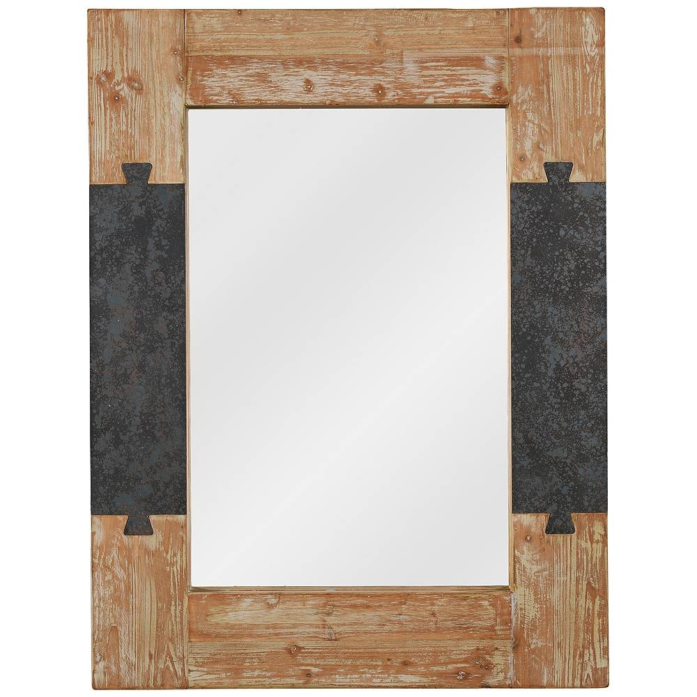 "Kenroy Home Joinery Wood 31 1/2"" x 41 1/4"" Wall Mirror - Style # 65W56"