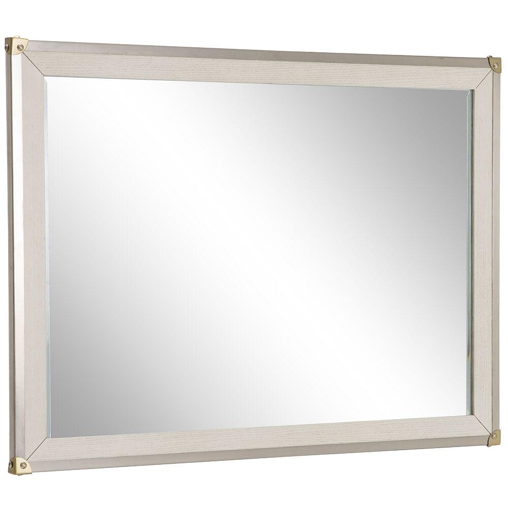 "Kathy Ireland Menlo Station Eucalyptus 52 1/2"" x 38 1/2"" Sideboard Mirror - Style # 94N25"