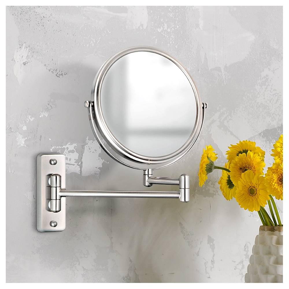 Aptations Brushed Nickel 5X Magnification Vanity Mirror - Style # 99771