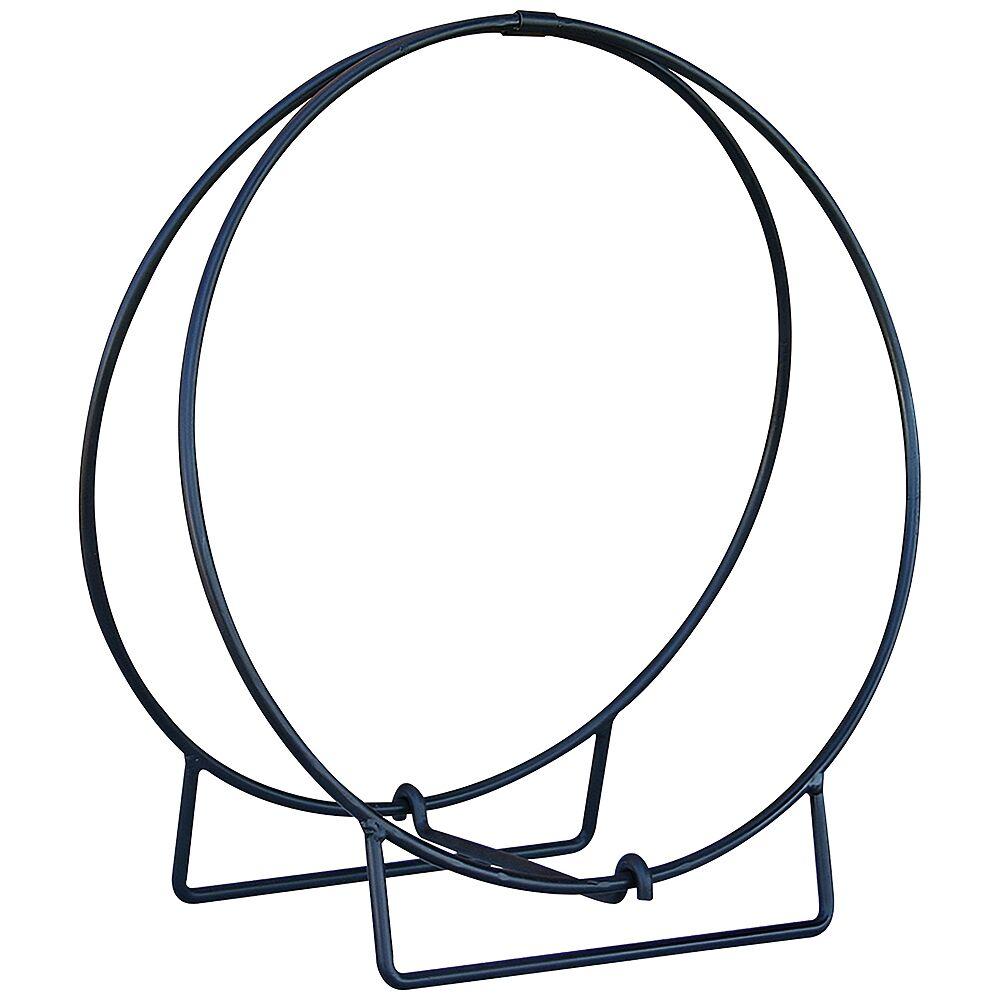 """UniFlame 36"""" Wide Black Outdoor Log Hoop - Style # 85N33"""