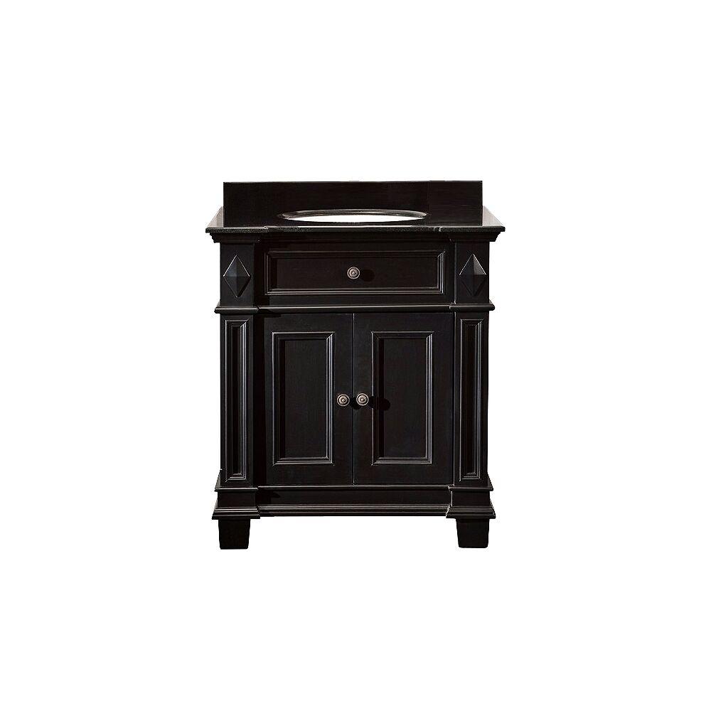 """Ove Decors Essex 31"""" Wide Black Antique Single Sink Bathroom Vanity - Style # 4N331"""