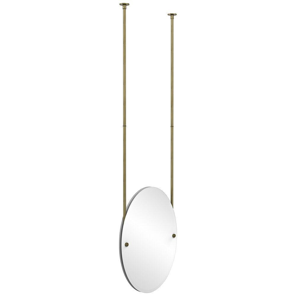 "Avondale Decor Avondale Ceiling-Hung Antique Brass 21"" x 29"" Oval Mirror - Style # 9W206"