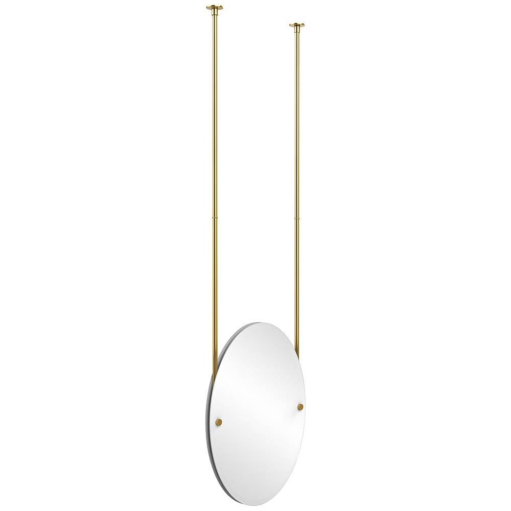 """Avondale Decor Avondale Ceiling-Hung Polished Brass 21"""" x 29"""" Oval Mirror - Style # 9W208"""