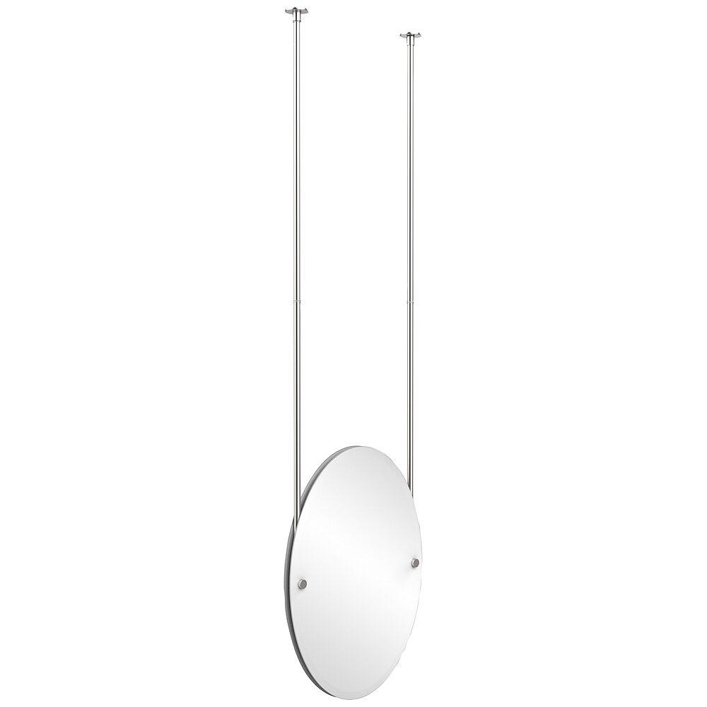 "Avondale Decor Avondale Ceiling-Hung Satin Chrome 21"" x 29"" Oval Mirror - Style # 9W211"