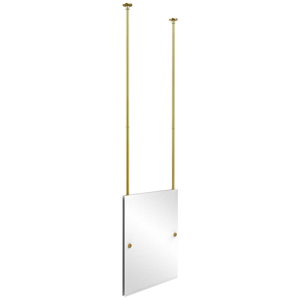 """Avondale Decor Avondale Ceiling-Hung Polished Brass 21"""" x 26"""" Mirror - Style # 9W217"""