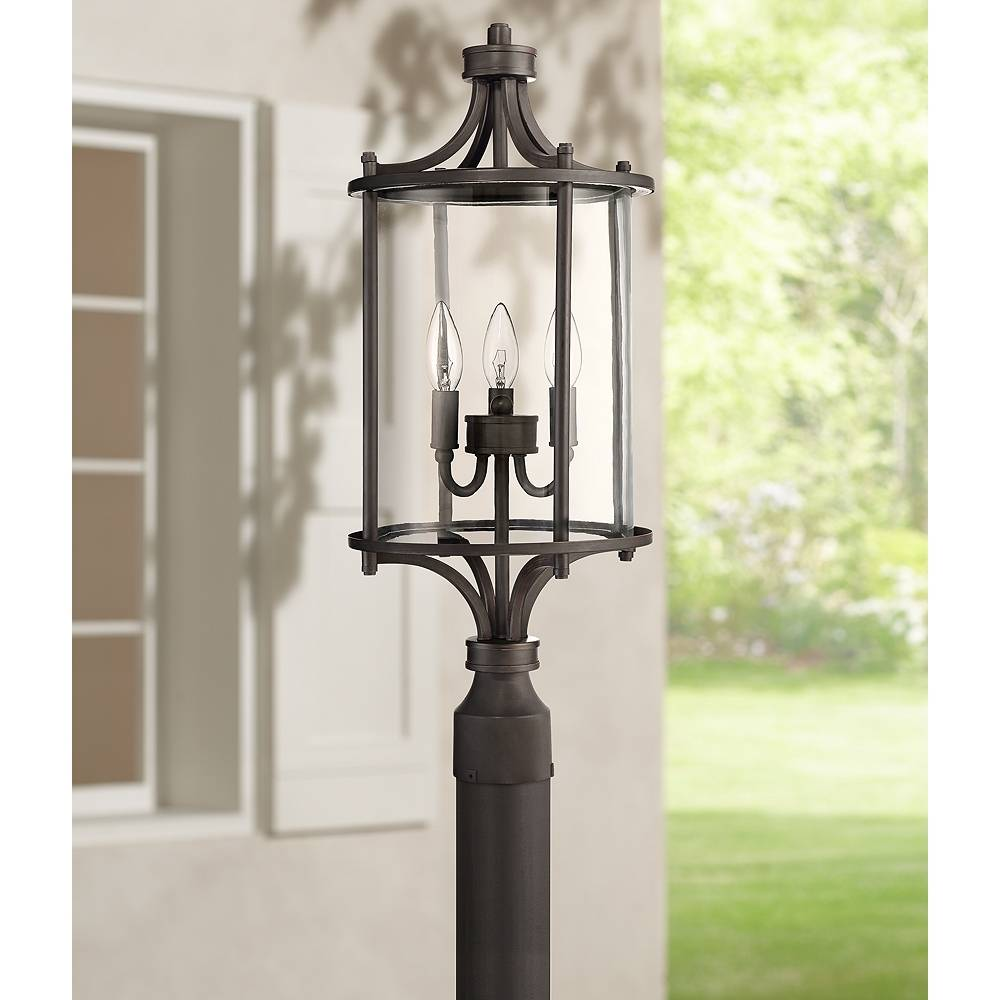 """Universal Lighting and Decor Carlton 24"""" High Aged Brushed Bronze Outdoor Post Light - Style # 15Y03"""