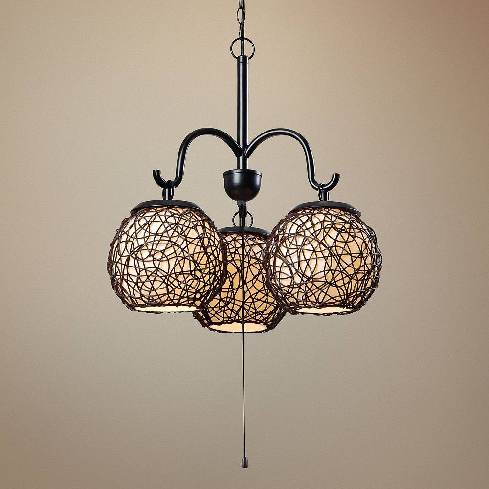 "Kenroy Home Castillo 17"" Wide Bronze Outdoor Pendant Light - Style # 1W466"