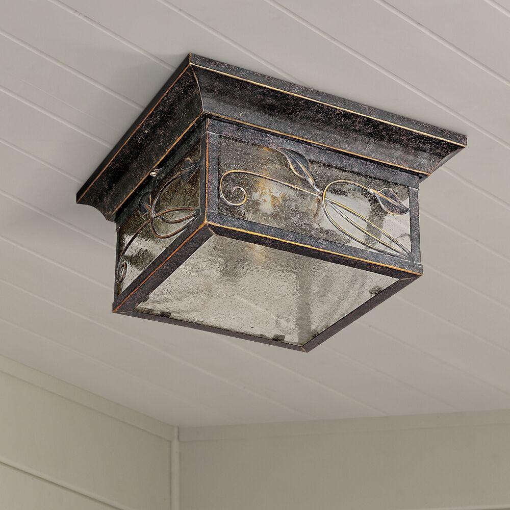 "Franklin Iron Works French Garden 11"" Wide Bronze Indoor-Outdoor Ceiling Light - Style # 70531"