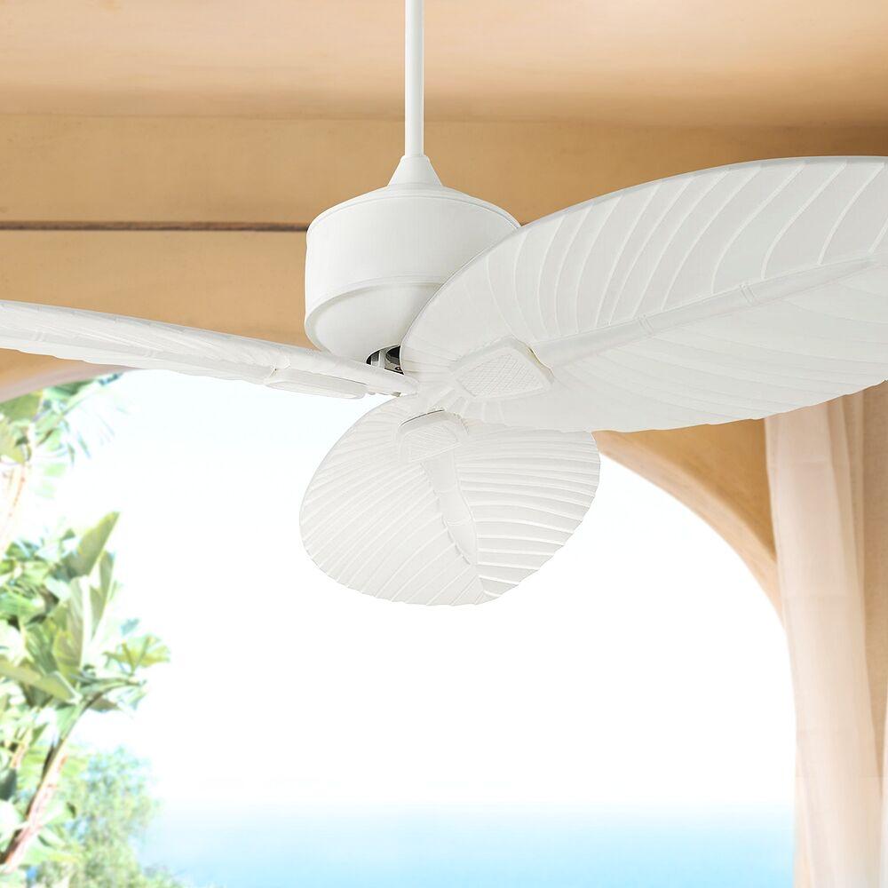 "Monte Carlo 56"" Monte Carlo Delray Matte White Outdoor Ceiling Fan - Style # 71D96"