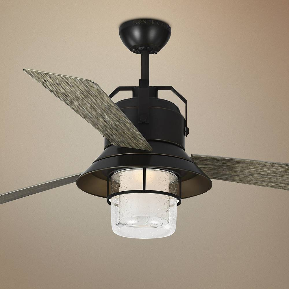"Monte Carlo 54"" Boynton Antique Bronze LED Outdoor Ceiling Fan - Style # 71D97"