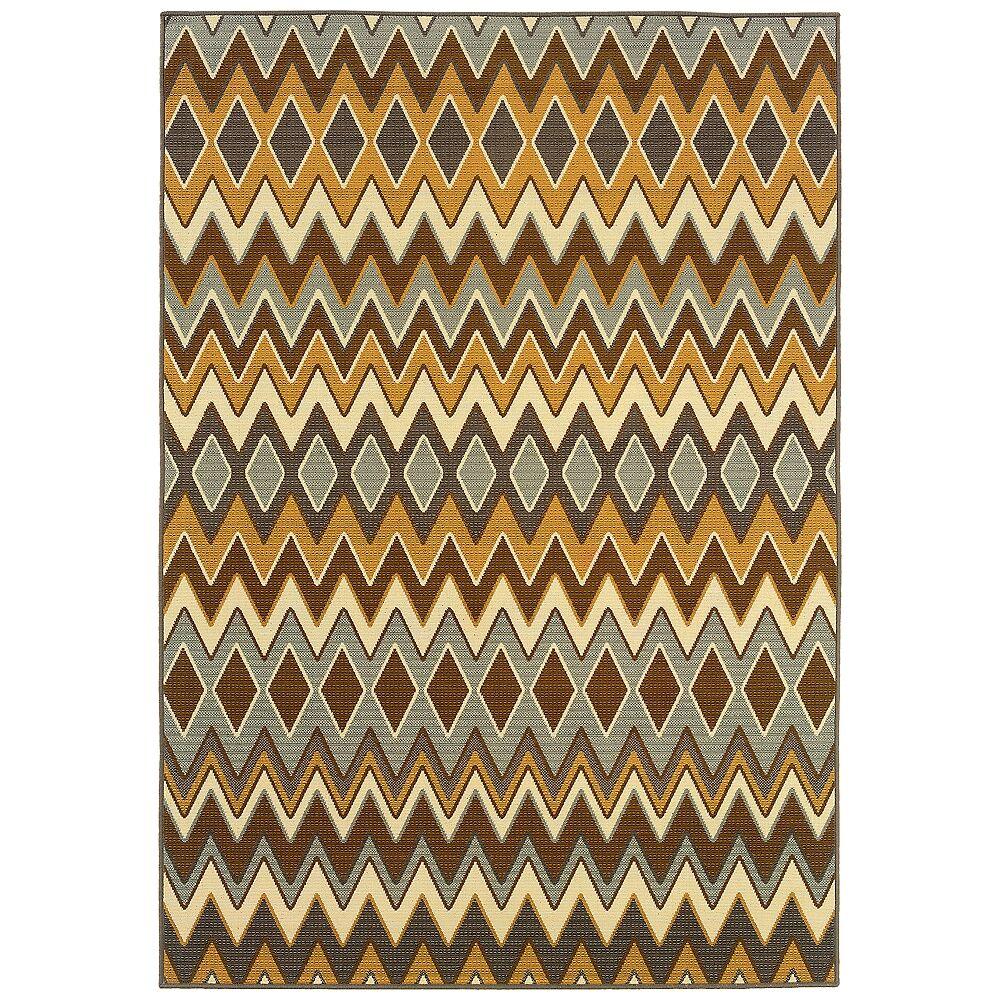 """Oriental Weavers USA Oriental Weavers Bali 1732D 3'7""""x 5'6"""" Outdoor Rug - Style # 2M534"""