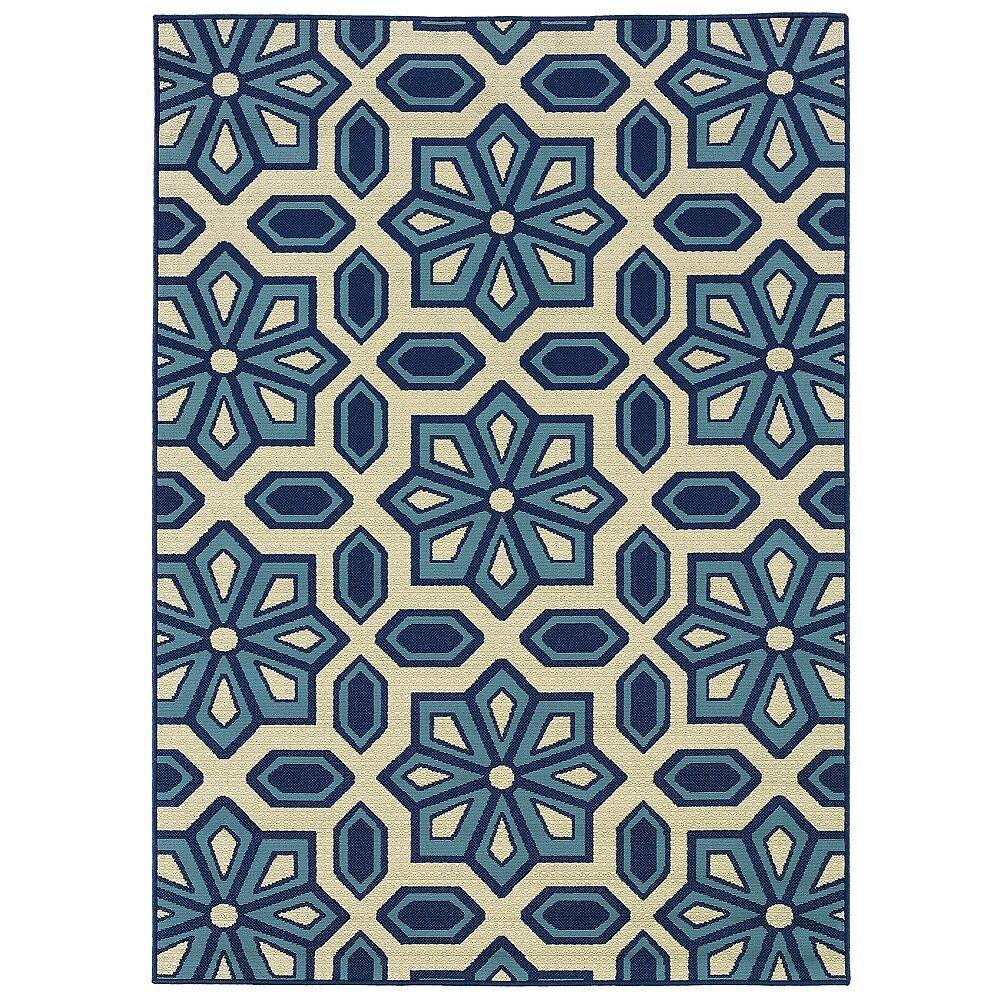 """Oriental Weavers USA Oriental Weavers Caspian 969W6 7'10""""x10'10"""" Outdoor Rug - Style # 2N274"""