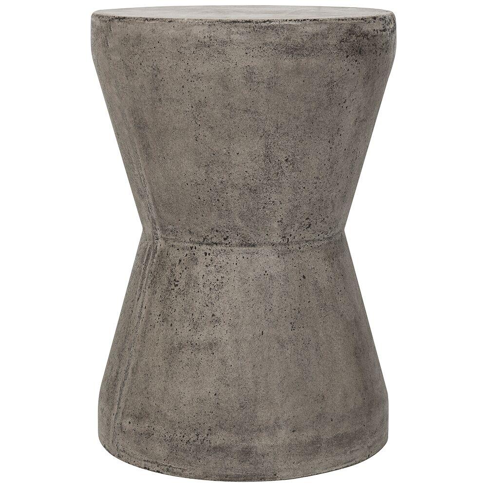 Safavieh Torre Dark Gray Concrete Indoor-Outdoor Accent Table - Style # 35X54