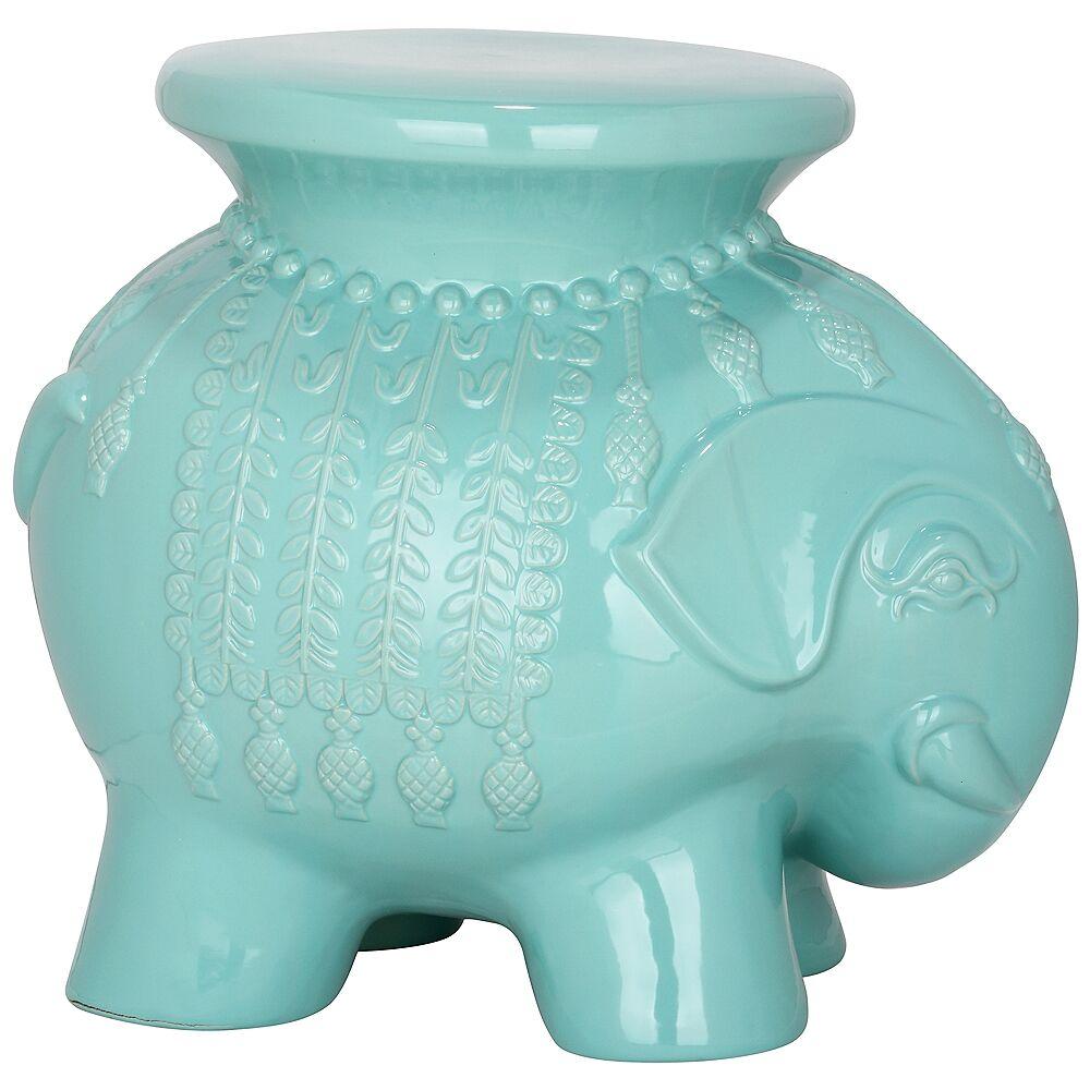 Safavieh Elephant Light Blue Ceramic Garden Stool - Style # 4P322