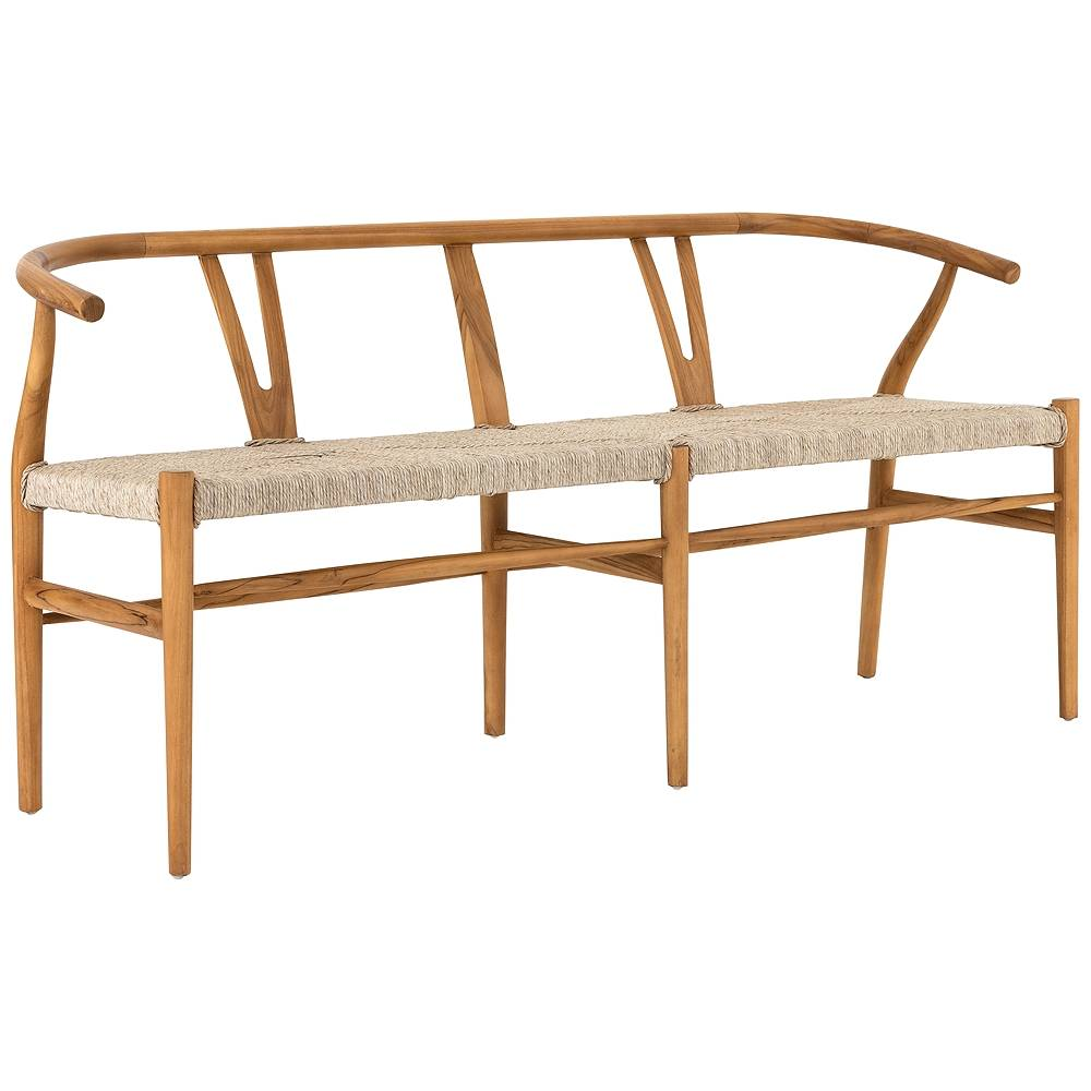 Universal Lighting and Decor Muestra Rustic Natural Teak Dining Bench - Style # 97N37