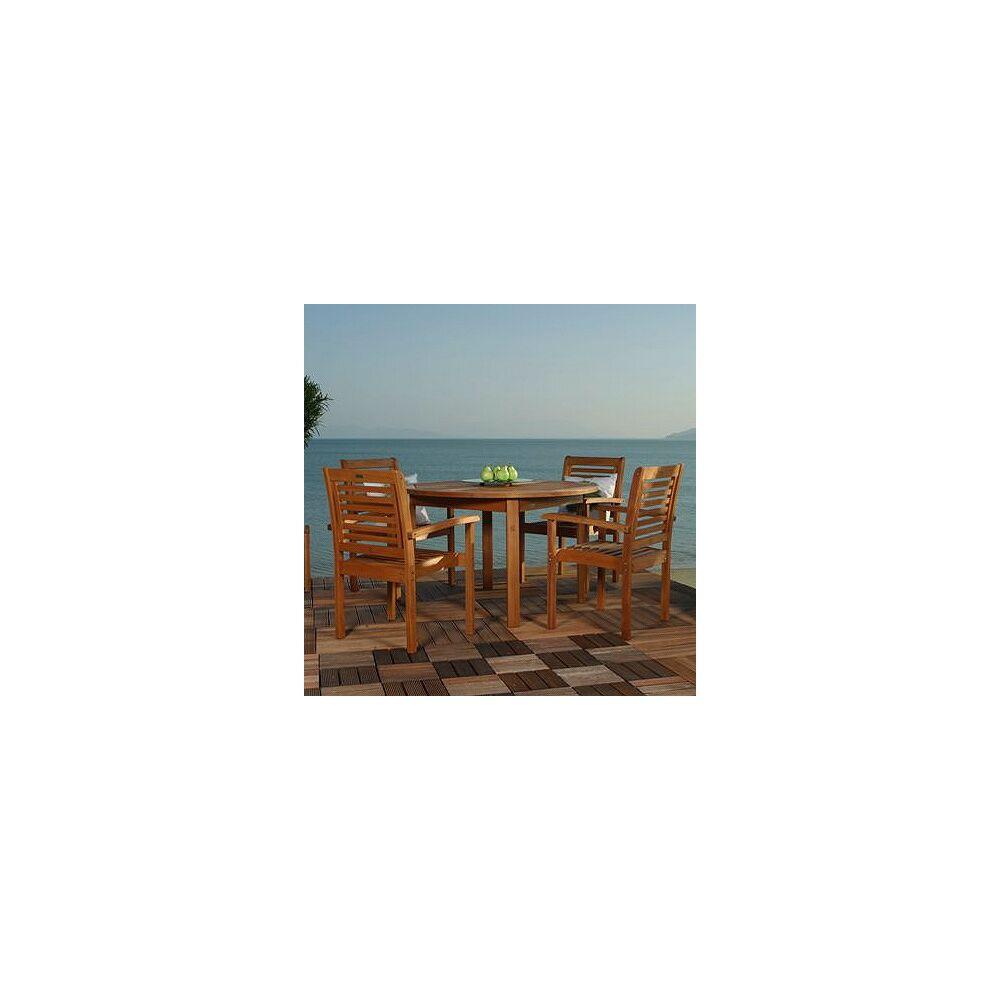 Amazonia Teak Forli Round 5-Piece Outdoor Dining Set - Style # X6216