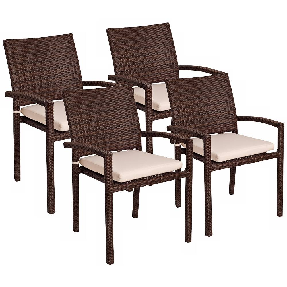 Universal Lighting and Decor Vicento Set of 4 Outdoor Armchairs - Style # X6400