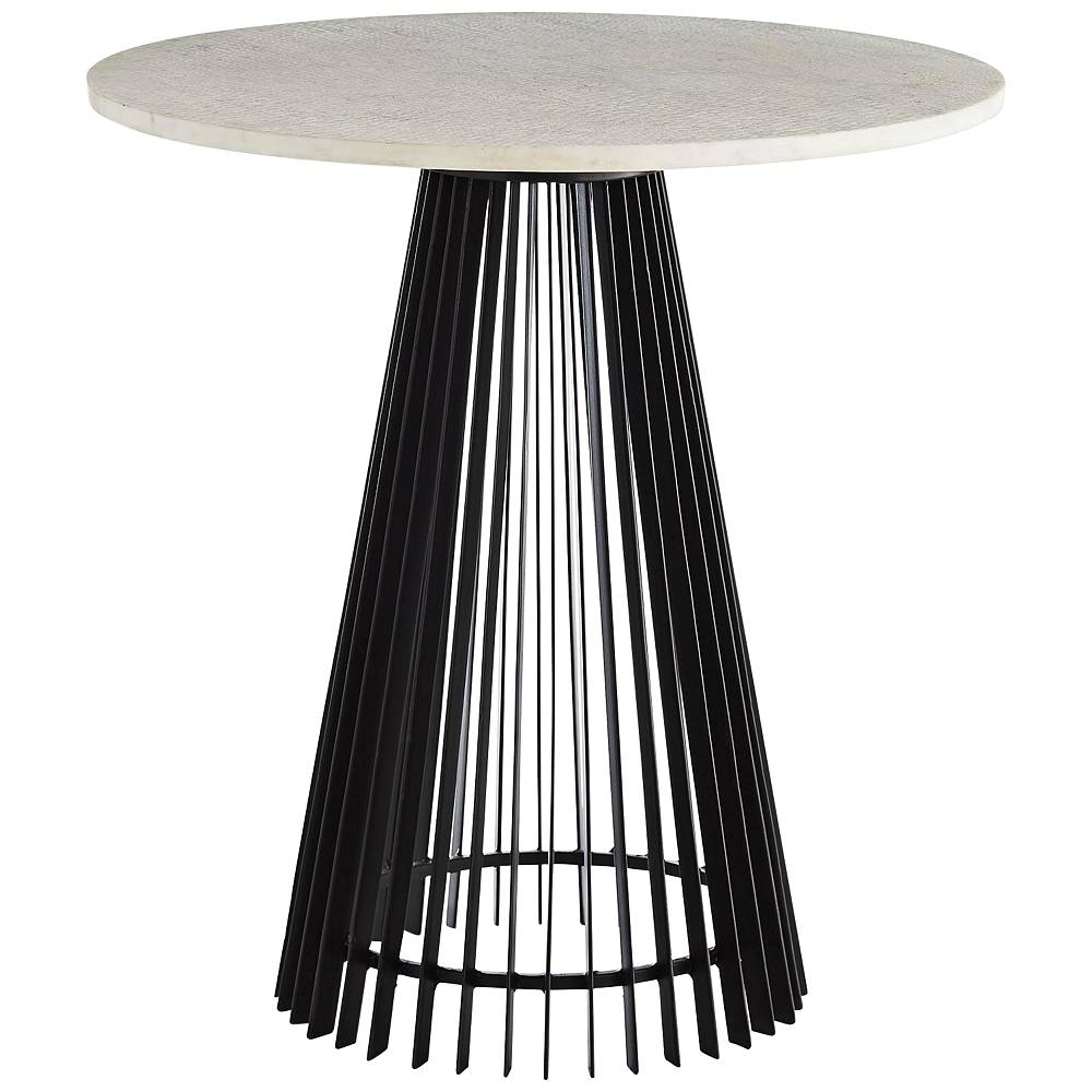 """Arteriors Home Jamie 23 1/2"""" Wide Black and White End Table - Style # 74N74"""