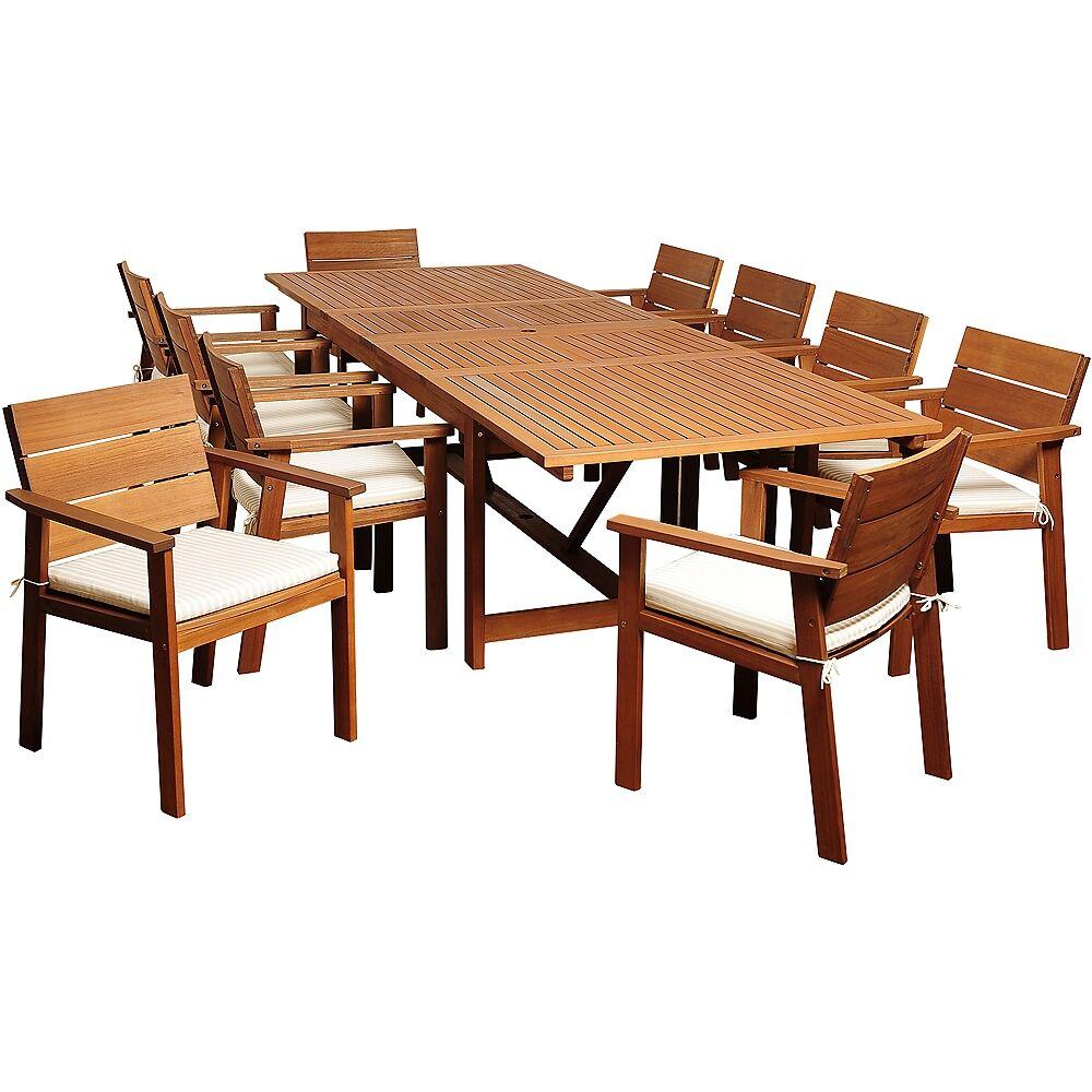 Universal Lighting and Decor Alonzo Eucalyptus 11-Piece Extendable Patio Dining Set - Style # 7V257