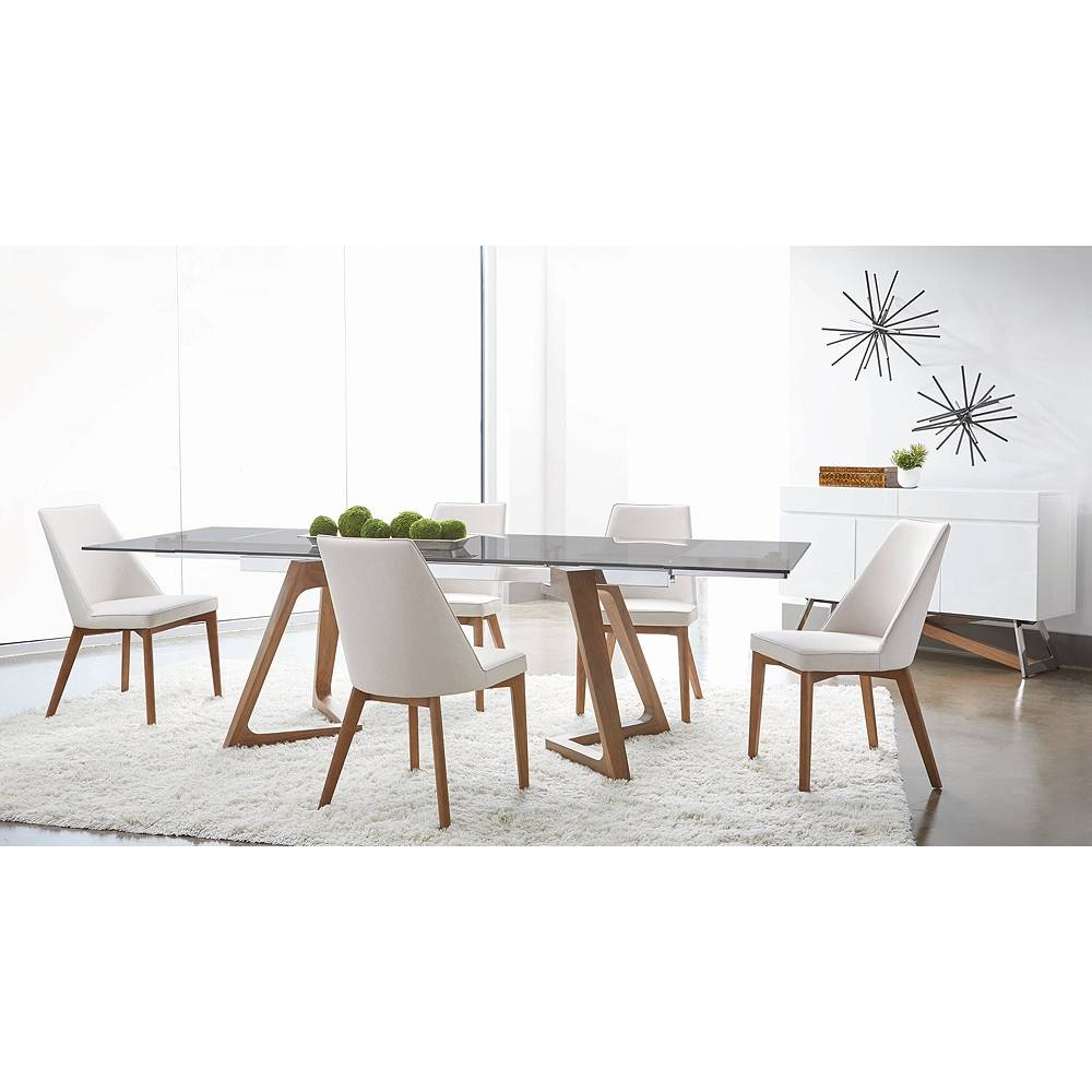 Universal Lighting and Decor Noah Antique White and Walnut Dining Chairs Set of 2 - Style # 86E61