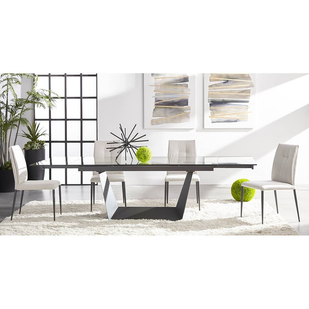 Universal Lighting and Decor Drai Clay and Matte Dark Gray Tufted Dining Chairs Set of 2 - Style # 86E67