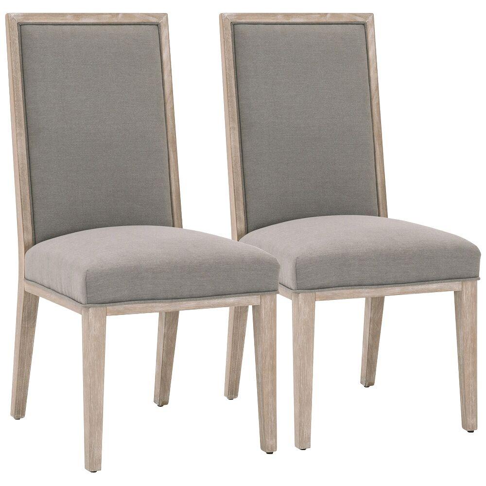Universal Lighting and Decor Martin LiveSmart Peyton-Slate Dining Chairs Set of 2 - Style # 87Y69