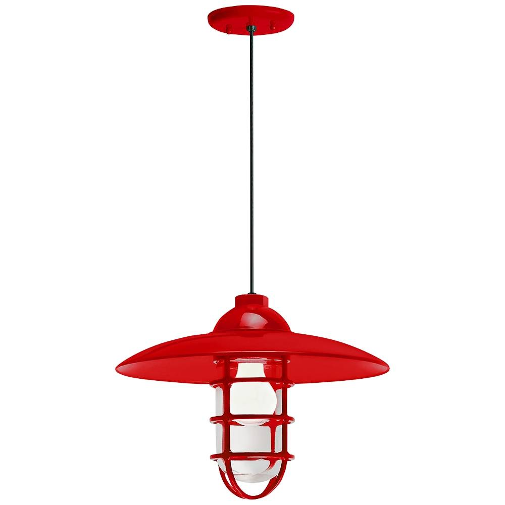 """Troy RLM Retro Industrial 9 3/4""""H Red Outdoor Hanging Light - Style # 12V12"""