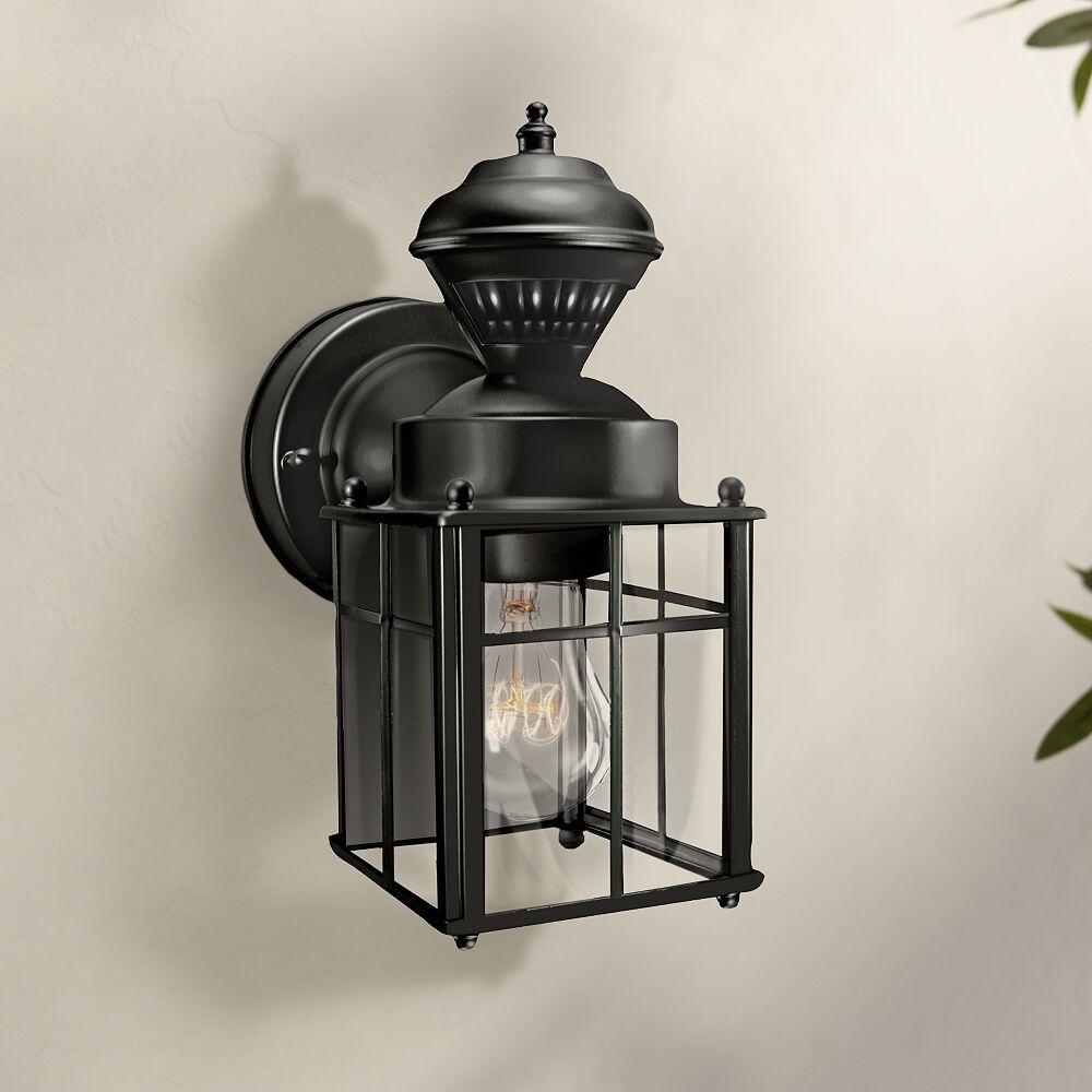 "Universal Lighting and Decor Bayside 9 1/2"" High Motion Sensor Black Outdoor Wall Light - Style # 3J879"