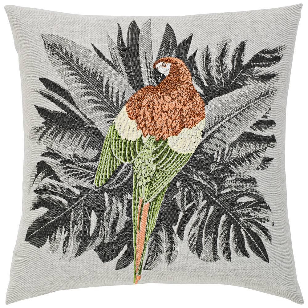"Sunbrella Elaine Smith Macaw 20"" Square Indoor-Outdoor Pillow - Style # 46K94"