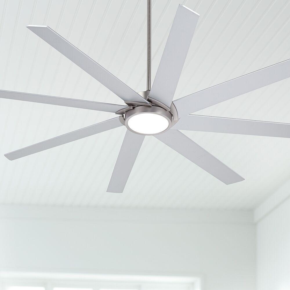 "Possini Euro Design 65"" Possini Euro Destination Brushed Nickel LED Ceiling Fan - Style # 17H71"