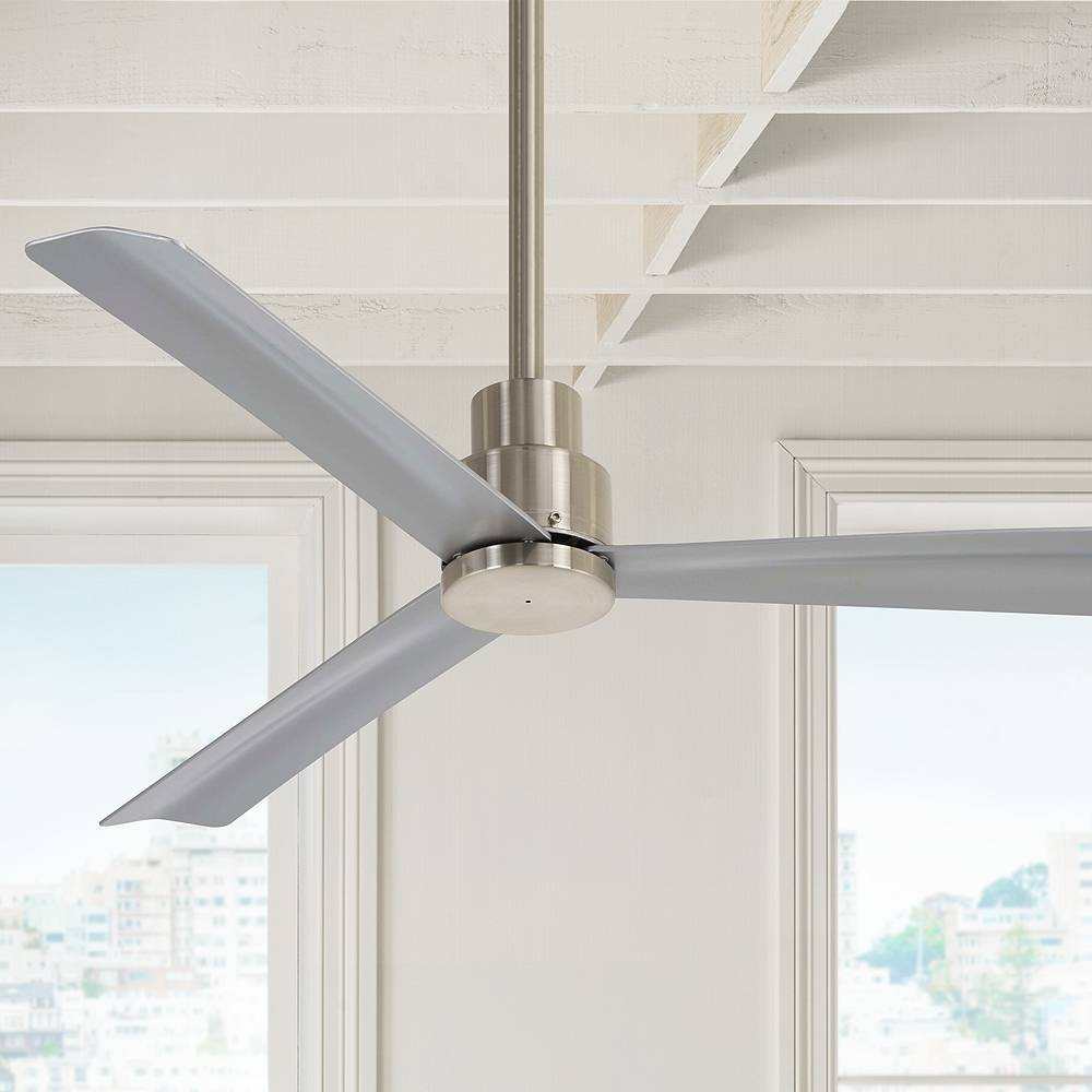 """Minka Aire 44"""" Minka Aire Simple Brushed Nickel Outdoor Ceiling Fan - Style # 45X24"""