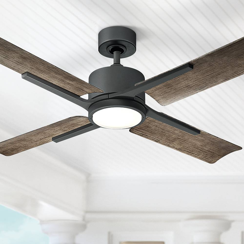 """Modern Forms 56"""" Modern Forms Cervantes Graphite LED Outdoor Ceiling Fan - Style # 58R77"""