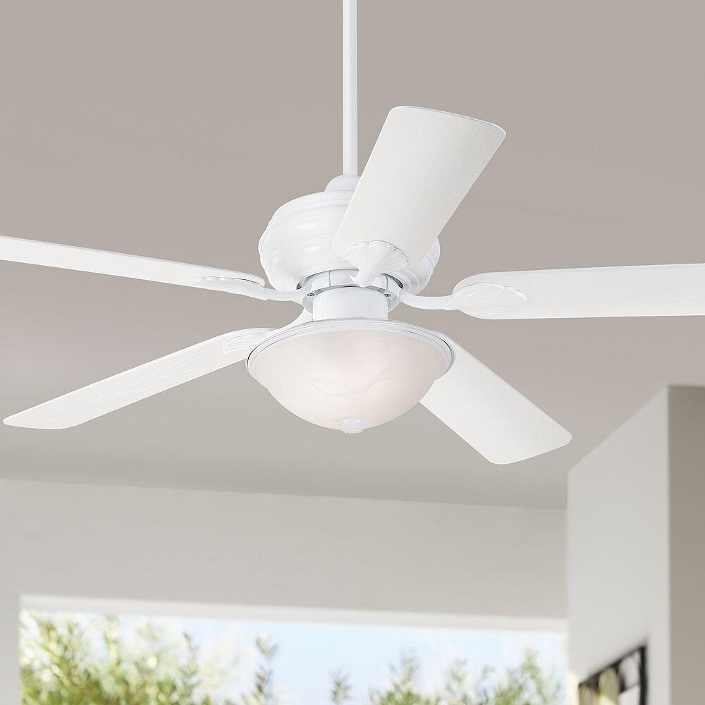 "Casa Vieja 52"" Casa Vieja White Outdoor LED Ceiling Fan - Style # 70T17"