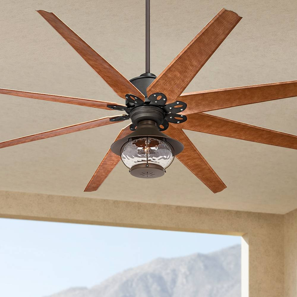 "Casa Vieja 72"" Predator English Bronze Lantern Outdoor LED Ceiling Fan - Style # 71P60"