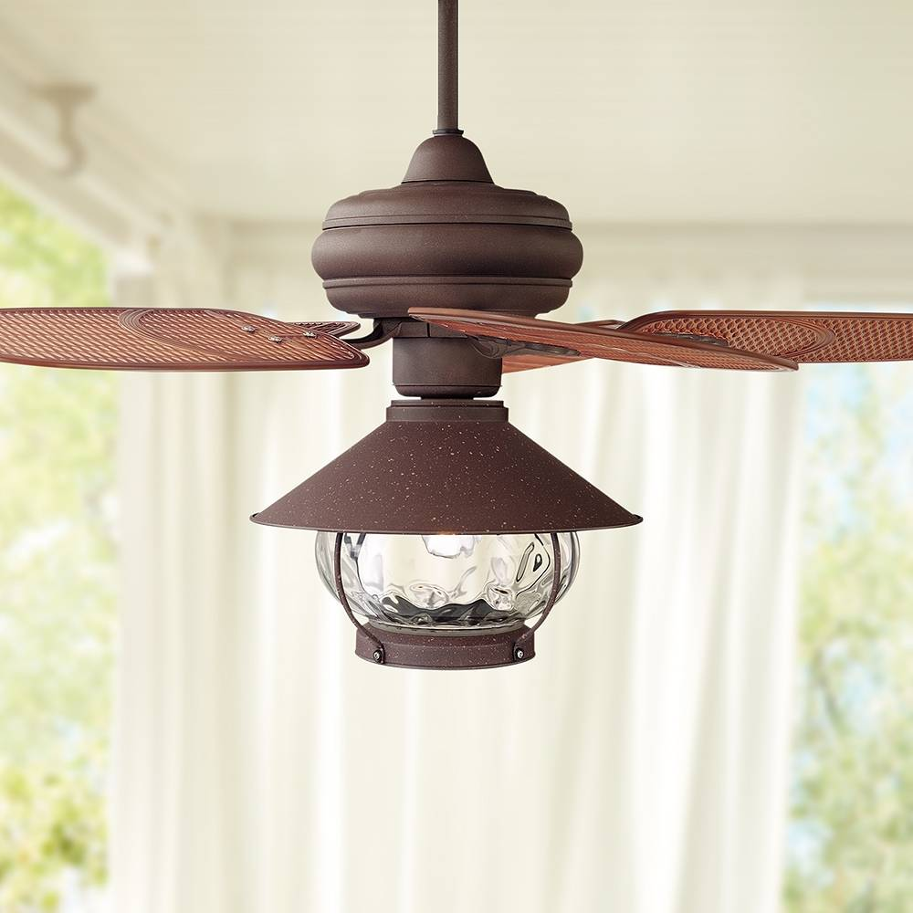 """Universal Lighting and Decor 42"""" Casa Vieja Tropical Lantern Outdoor LED Ceiling Fan - Style # 71V36"""