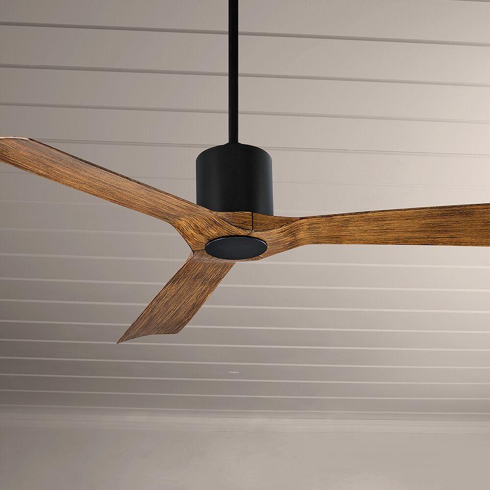 "Modern Forms 54"" Modern Forms Aviator Matte Black Outdoor Ceiling Fan - Style # 72A24"