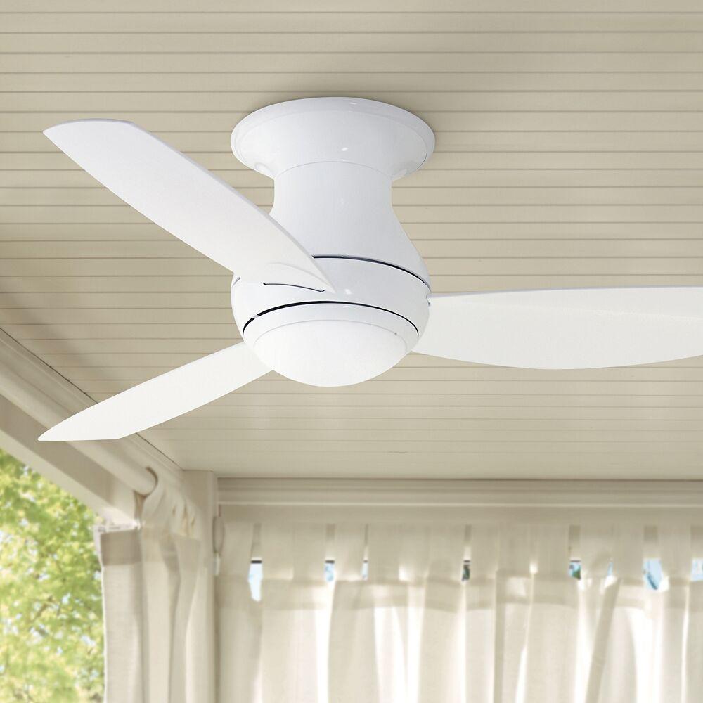 """Emerson 44"""" Curva Sky Appliance White LED Wet Hugger Ceiling Fan - Style # 73W87"""