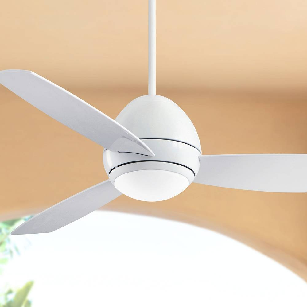 "Emerson 52"" Emerson Curva Appliance White LED Outdoor Ceiling Fan - Style # 76F07"