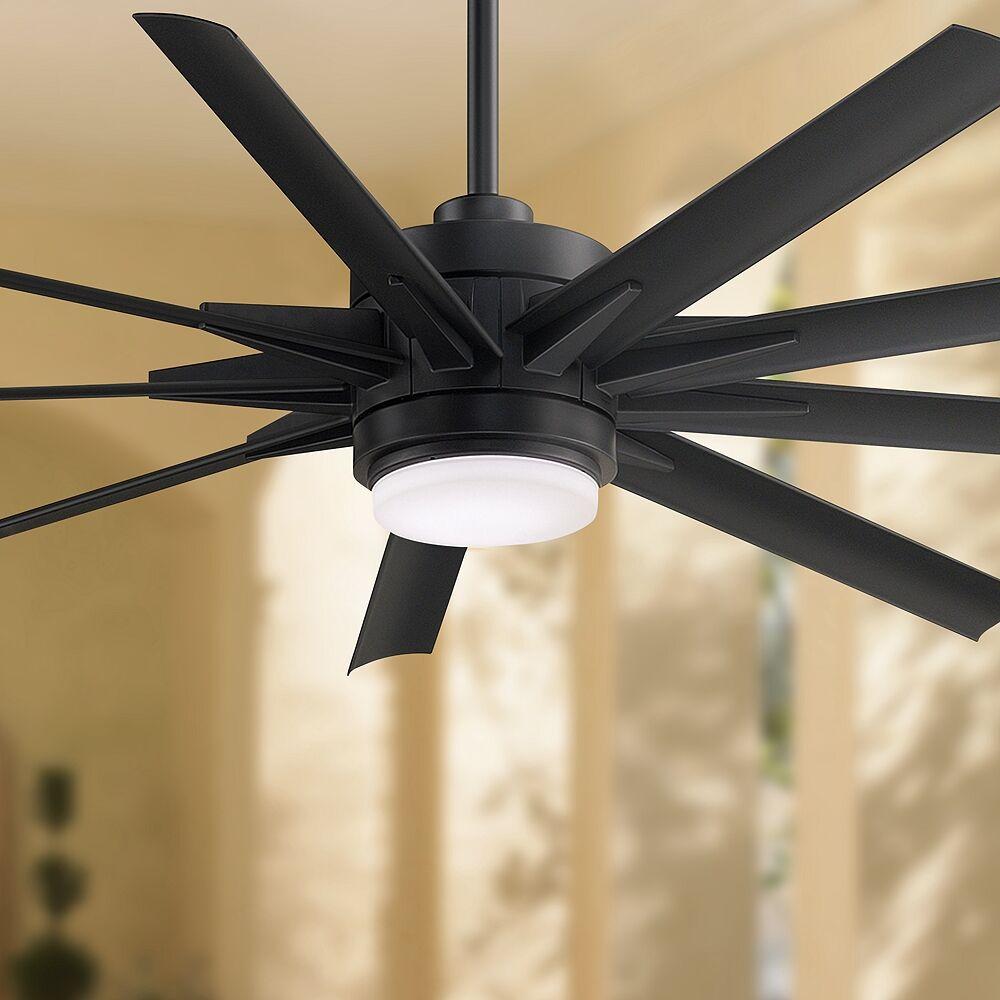 """Fanimation 64"""" Fanimation Odyn Custom Black LED Outdoor Ceiling Fan - Style # 79X66"""